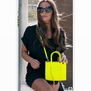 Rebecca Minkoff neon yellow crossbody bag